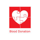 Blood donation logo puzzle Stock Photo