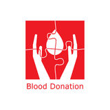 Blood donation logo puzzle Stock Images