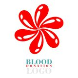 Blood donation logo Vector design Stock Photography