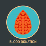 Blood donation logo vector Royalty Free Stock Photography