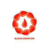 Blood donation logo Royalty Free Stock Photography