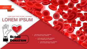 Blood Donation Medical Colorful Composition royalty free stock images