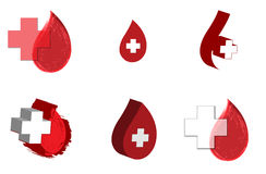 Blood donation medicine help hospital save life heart icon background  abstract illustration object Stock Image