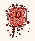 Blood donation poster Stock Photography