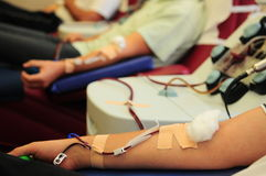 Blood donation process Royalty Free Stock Photo