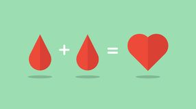 Blood donation saves lives Stock Images
