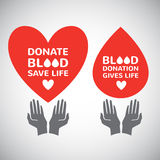 Blood donation simple illustrations Stock Photography