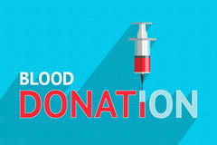 Blood donation and syringe  Stock Images