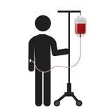 Blood donation theme pictogram design. Stock Photo