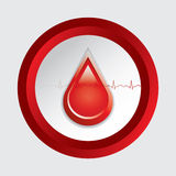 Blood donation vector. Royalty Free Stock Images