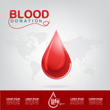 Blood Donation Vector Concept - Hospital To Begin New Life Again Stock Images