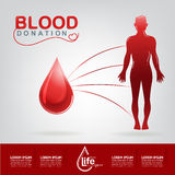 Blood Donation Vector Concept - Hospital To Begin New Life Again. This is Blood Donation Vector eps 10 vector illustration