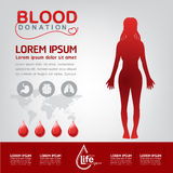 Blood Donation Vector Concept - Hospital To Begin New Life Again Stock Image