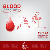 Blood Donation Vector Concept - Hospital To Begin New Life Again Royalty Free Stock Photo