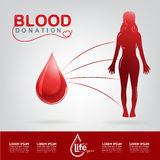 Blood Donation Vector Concept - Hospital To Begin New Life Again Royalty Free Stock Photos