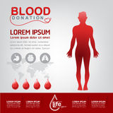 Blood Donation Vector Concept - Hospital To Begin New Life Again Stock Photo