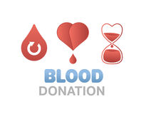 Blood donation vector Royalty Free Stock Images