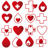 Blood donation - vector. Illustration art of a blood donation with  background Stock Photos