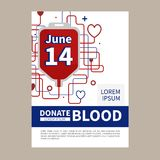 Blood donation infographic. Blood donation vector illustration. Blood Donor Day. Save a life. Infusion therapy stock illustration