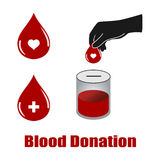 Blood donation vectors Stock Photography