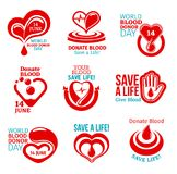 Blood Donor Day icon for health charity design Royalty Free Stock Photography