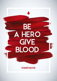 Blood Donor  motivation information donor poster. Blood Donation. World Blood Donor Day banner.  Royalty Free Stock Photos