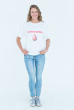 Blood donor standing hands in pocket Stock Photos