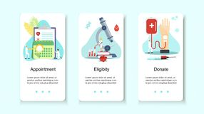 Blood donor tiny people character royalty free illustration