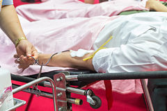 Blood Donors Making Donation Royalty Free Stock Images