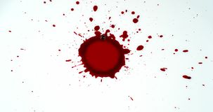 Blood Dripping against White Background, stock video footage