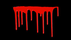 Blood Dripping Down Royalty Free Stock Photography