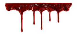 Blood dripping down Stock Photography