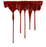 Blood dripping down Stock Image