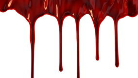 Blood dripping down stock footage