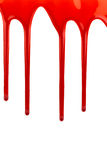 Blood dripping on white. Blood dripping on a white background Royalty Free Stock Photos