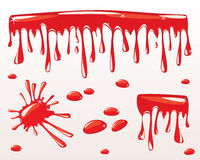 Blood drips Stock Photos
