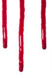 Blood drips oozing stock photo