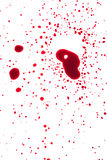 Blood drips on white surface Stock Photography