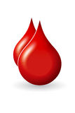 Blood drop. Photo design of blood drop on white background Royalty Free Stock Photos