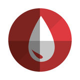 Blood drop donation icon Royalty Free Stock Photography