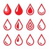 Blood Drop Emblem. Logo Template. Icon Set. Vector Stock Images