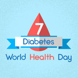 Blood Drop From Glucose Meter Level Diabetes World Health Day Stock Photo