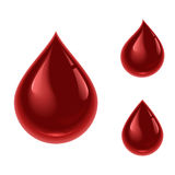 Blood drop. Illustration of a blood drop.  on white background Royalty Free Stock Photos