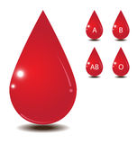 Blood drop isolate on white back ground Stock Photo