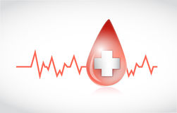 Blood drop lifeline illustration design Royalty Free Stock Image