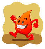 Blood drop mascot Stock Image