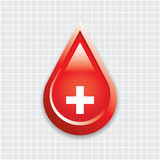 Blood drop with medical cross . Royalty Free Stock Image