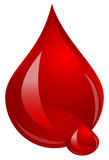 Blood. Drop of Blood red illustration Stock Images