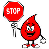 Blood Drop with Stop Sign Stock Photo