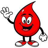 Blood Drop Waving Royalty Free Stock Images